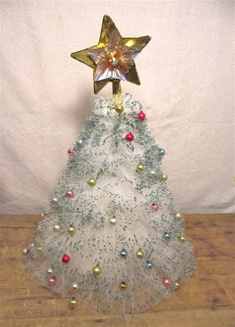 tulle christmas trees ideas  pinterest paper