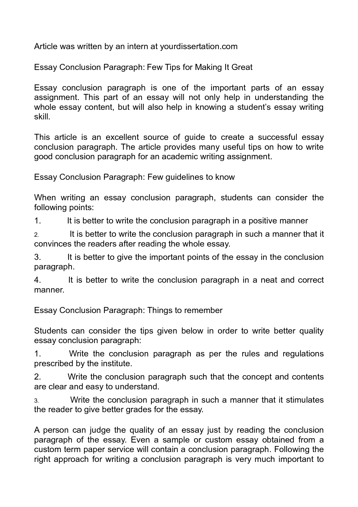 how to write the conclusion of an essay quilt