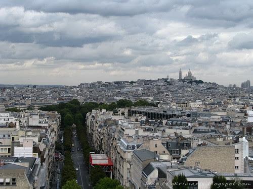Paris panoramic view from Arc de Triomphe