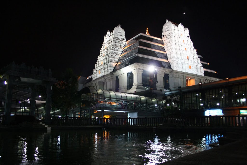 ISKCON Temple at night