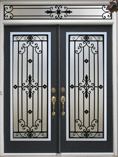 Decorative Wrought Iron Front Doors Inserts - Toronto