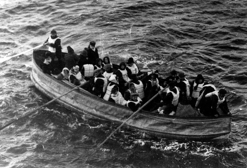 Collapsible lifeboat D from Titanic