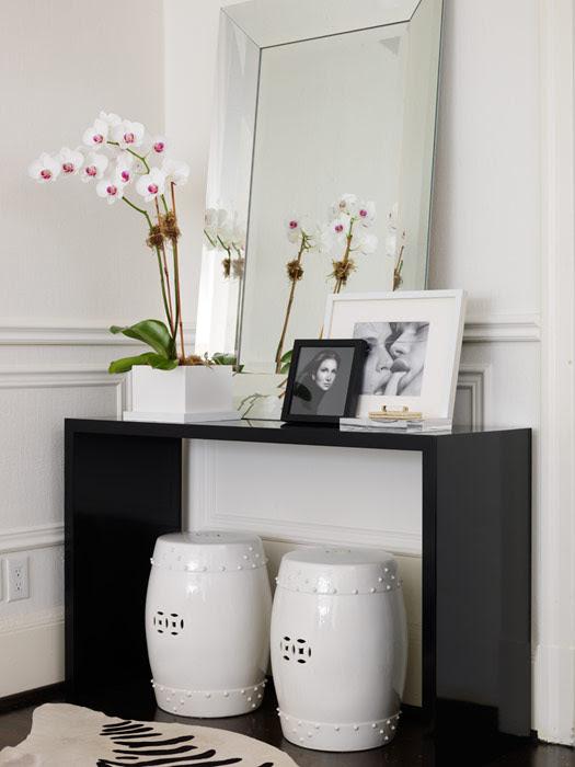 Black Lacquer Cosnole Table - Contemporary - entrance/foyer ...