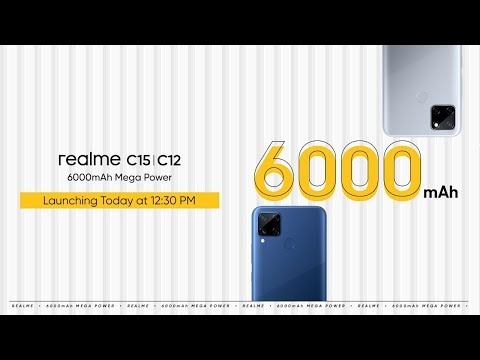 Realme C15, Realme C12 Launching Today - Watch Live Event