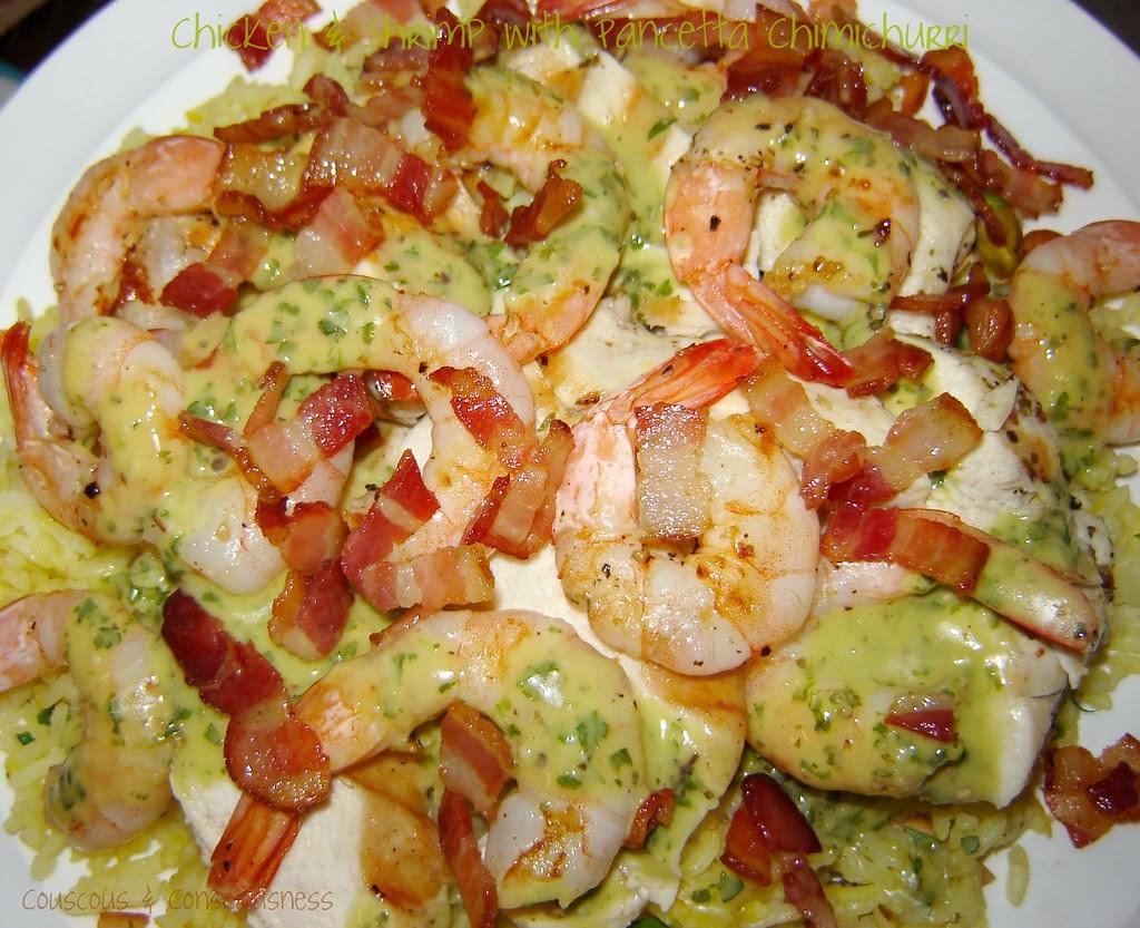 Chicken & Shrimp with Pancetta Chimichurri 1
