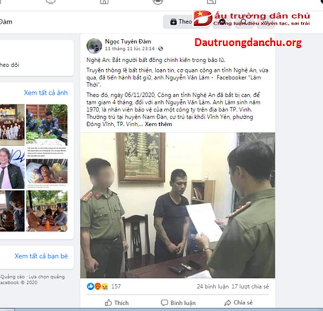 Đàm Ngọc Tuyên vô lối 'ngụy biện' cho kẻ giết hại nhân dân Việt Nam