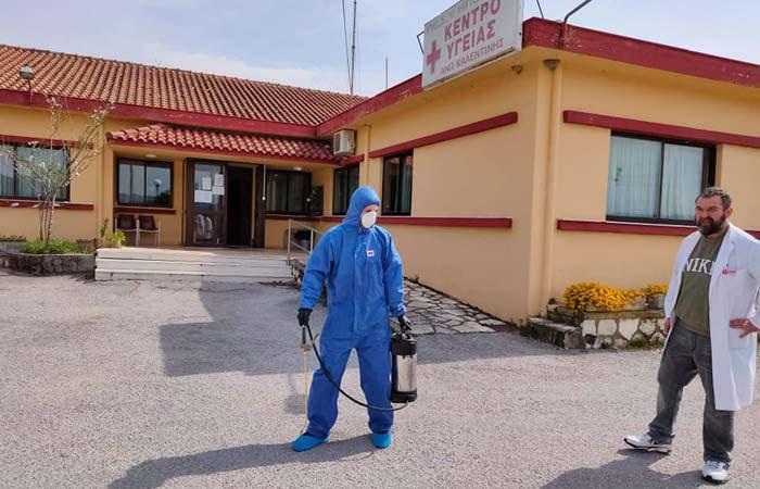 Άρτα: Απολυμάνσεις εξωτερικών χώρων στο Δήμο Γ. Καραϊσκάκη