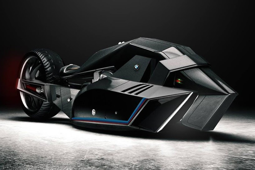 BMW 'titan' concept is a revolutionary motorcycle that belongs to the batcave