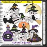 Spooky Squeaks Clipart - CU