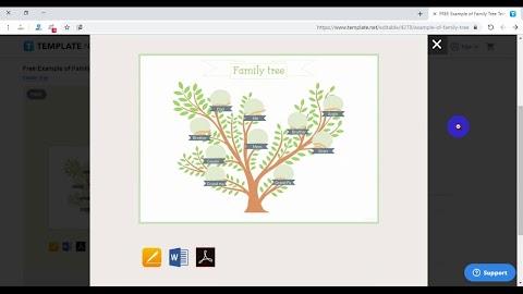 رسم شجرة العائلة برنامج
