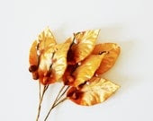 The Leaves Will Fall - Vintage Millinery Leaves - Silk - Fall - Autumn - Rustic - Orange - German - becaruns