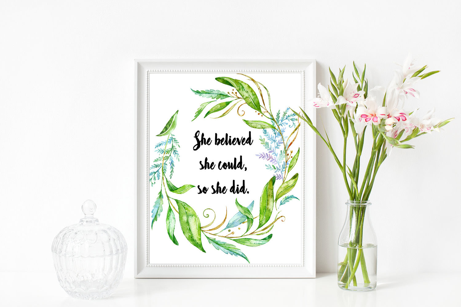Printable Office Art She Believed She Could So She Did Melanie