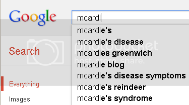 Google suggest for 'mcardl: