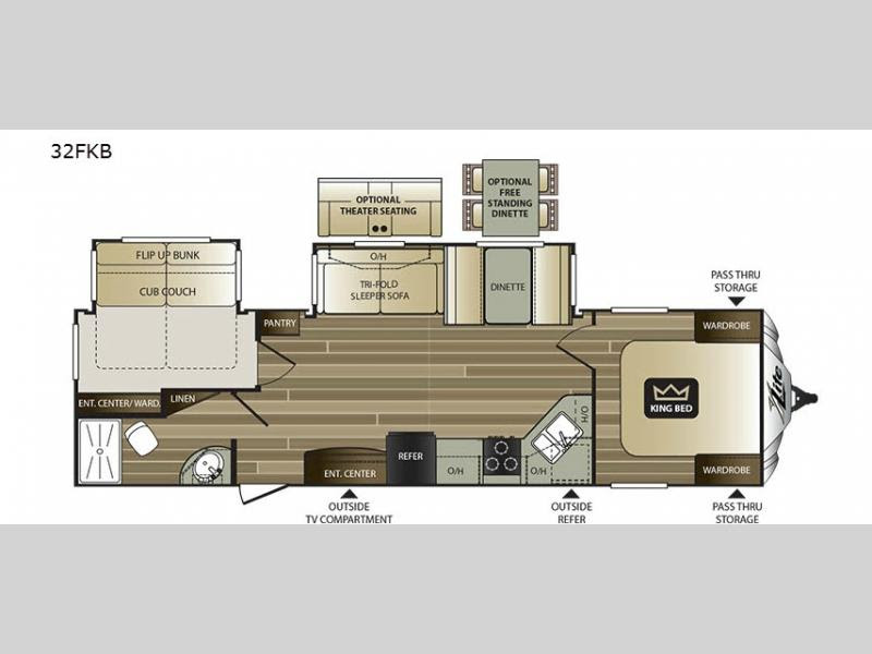 Travel Trailers With Bunk Beds Floor Plans