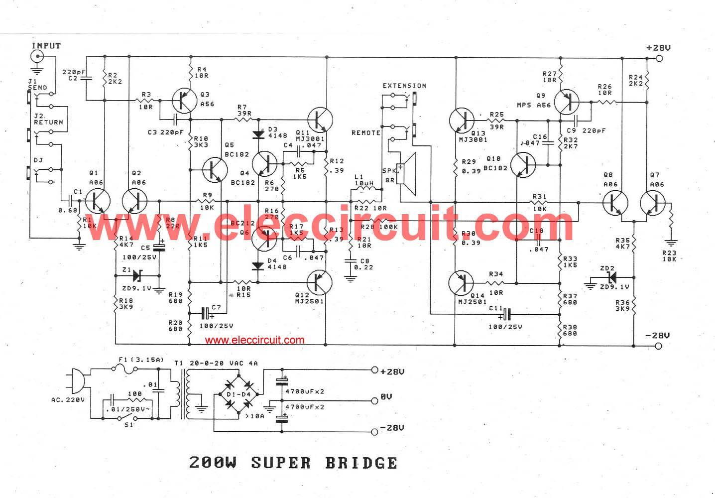 120w amplifier circuit