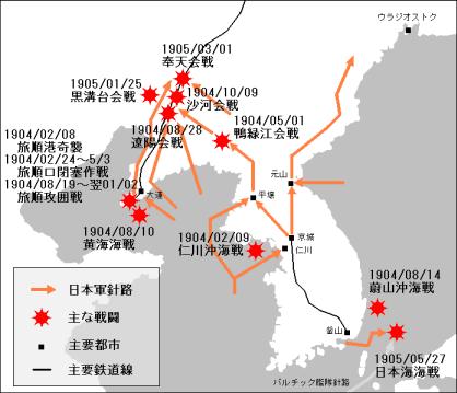 map 日露戰爭