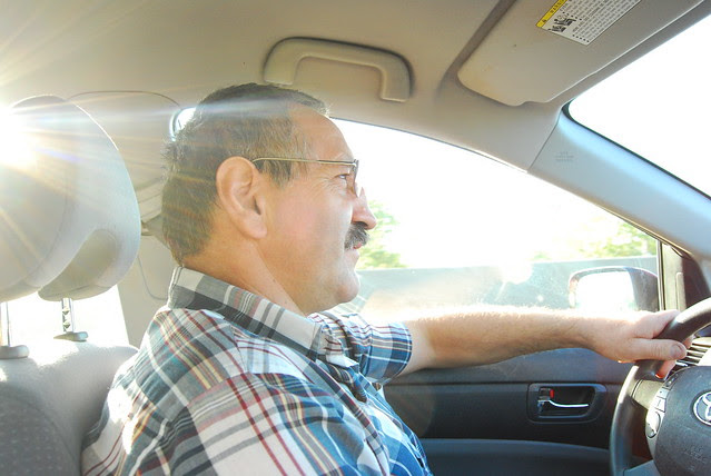 Pops driving