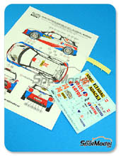 Calcas 1/24 Reji Model - Citroen DS3 WRC Lotos - Nº 74 - Kubica + Baran - Rally de Alemania 2013 - calca + resina para kit de Heller 80757 y 80758