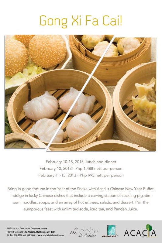 Chinese New Year at Acacia Hotel Manila