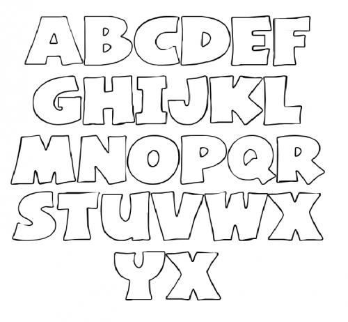 1000+ images about Letter Stencils on Pinterest | Big letters ...