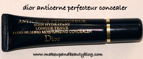 Dior concealer has a slightly thicker consistency than my go-to