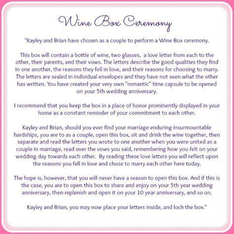 {Wine Box Ceremony} » Serendipity Designs Weddings