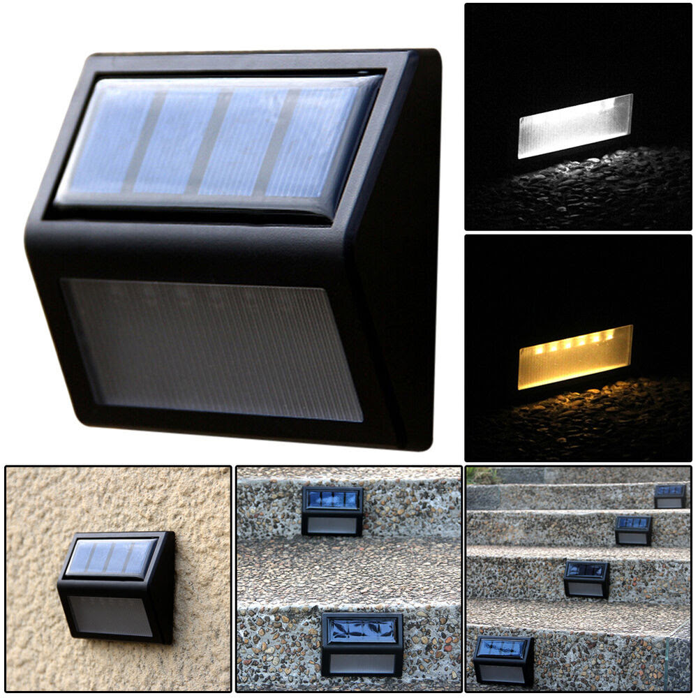 Solar Power Wall Mount LED Light Outdoor Garden Landscape Fence Lamp  eBay