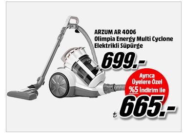ARZUM AR 4006 Olimpia Energy Multi Cyclone Elektrikli Süpürge 665TL