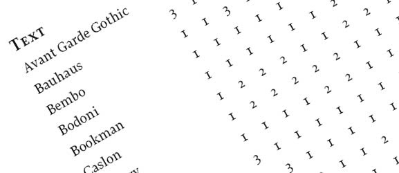 Mixing typefaces