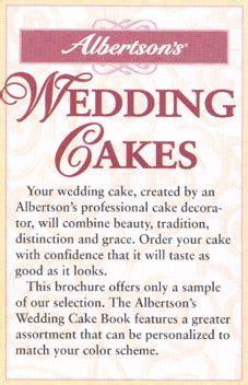 Albertson's Wedding Cakes