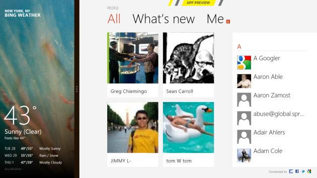 Windows 8 Metro app sidebar
