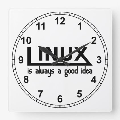 Linux Square Wall Clock