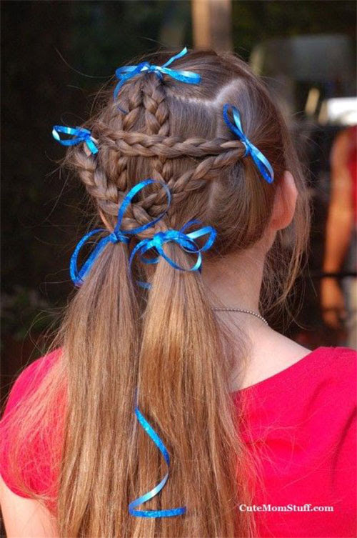 12 Amazing Fourth Of July Hairstyles For Kids Girls 2015 4th Of