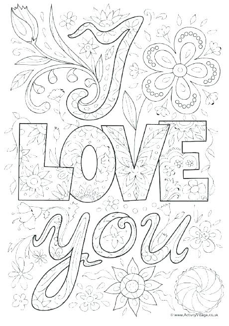 Coloring Pages: Coloring Pages I Love You Mom And Dad