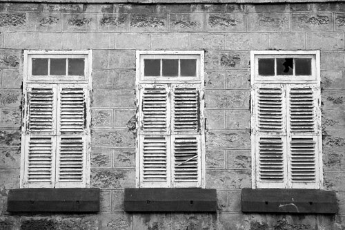 Closed White Windows