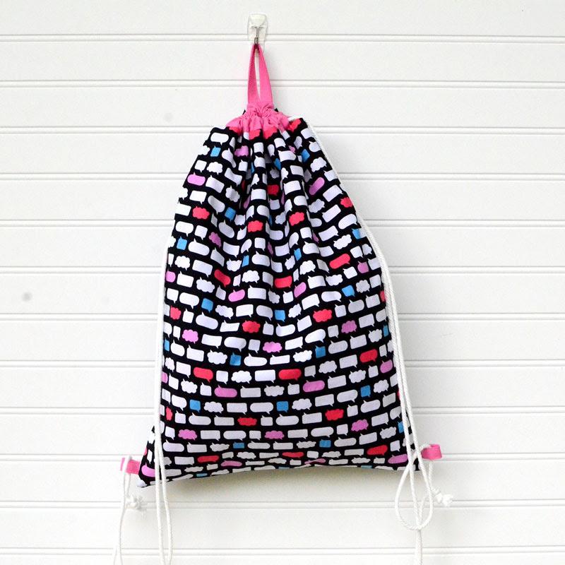 Easy Diy Drawstring Backpack Sewing Tutorial Orange Bettie