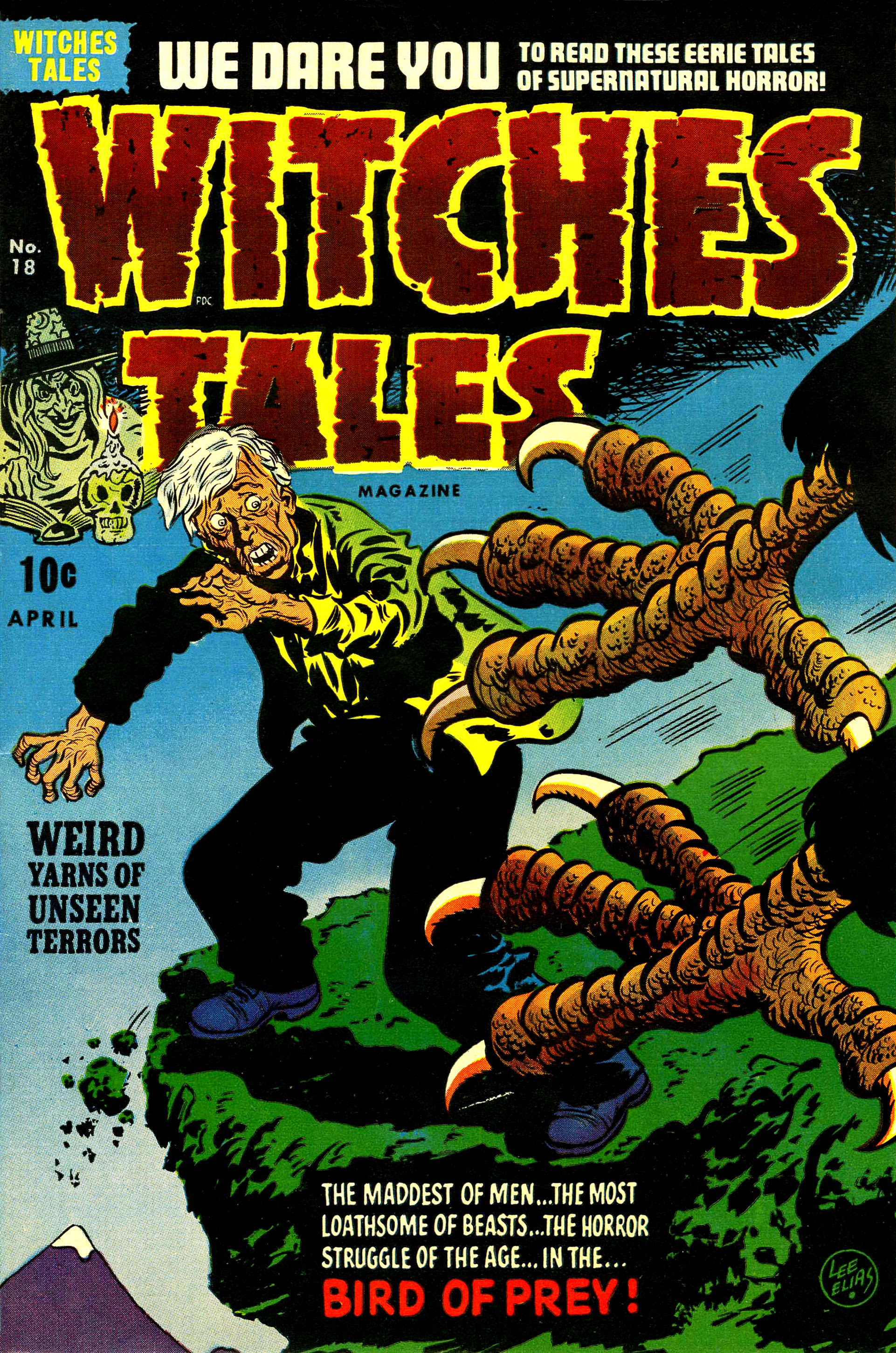 Witches Tales #18, Lee Elias Cover (Harvey, 1953)