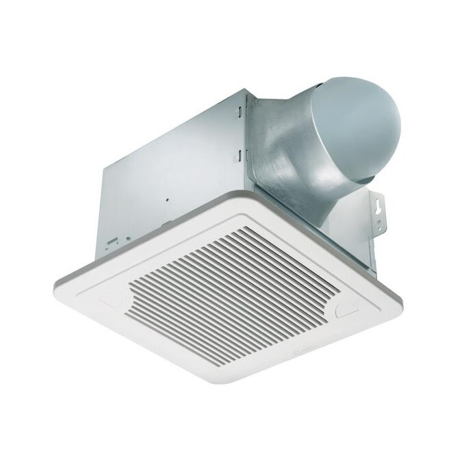 Delta Breez Smart 0 3 Sone 150 Cfm White Bathroom Fan Energy Star In The Bathroom Fans Heaters Department At Lowes Com