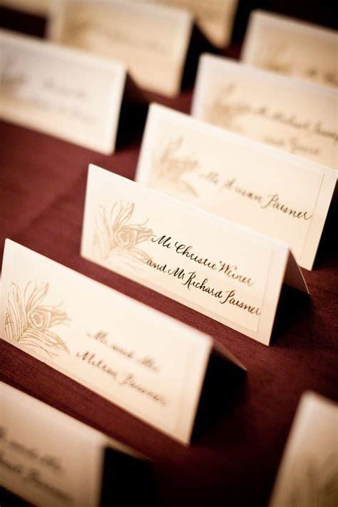 Simple Elegant Wedding Place Cards   Wedding Escort