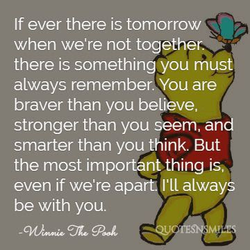 You Are Stronger Winnie The Pooh Quotes Quotesgram Exactly Living