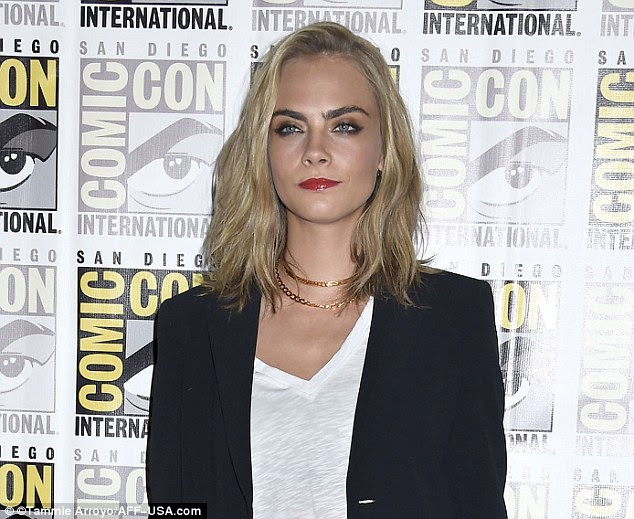 Chop, chop:Now, the star's blonde locks just make her shoulder after getting what appears to be almost 10 inches lopped off