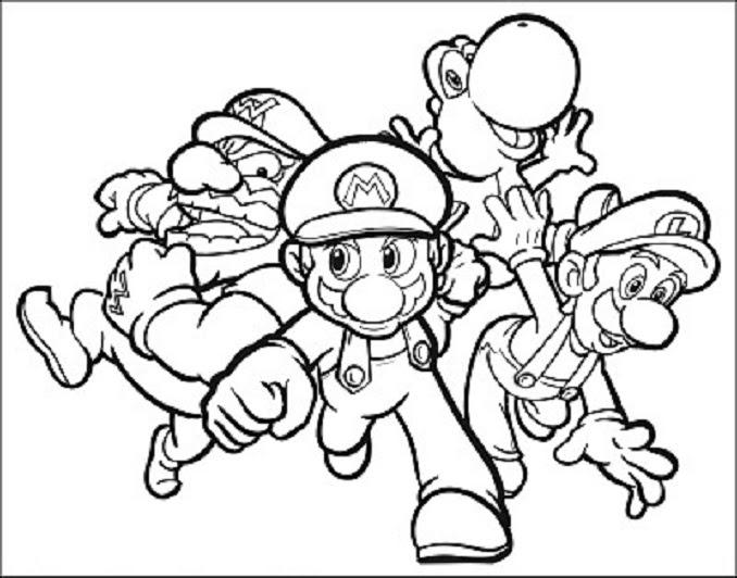 Super Mario Bros Dibujos Para Colorear