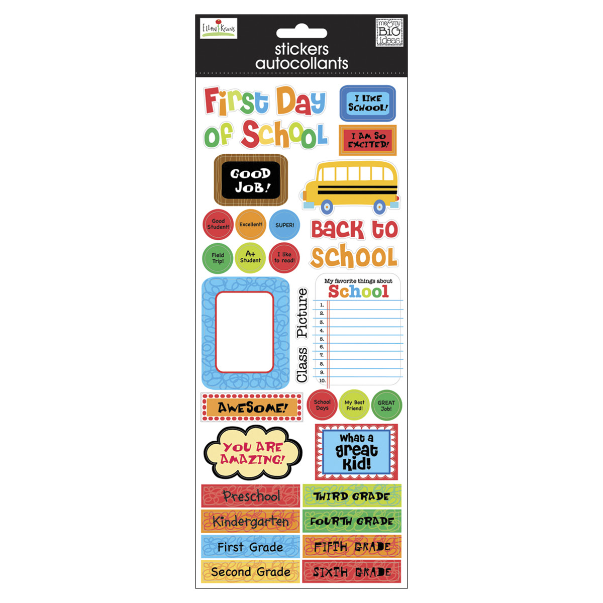 ... Theme » School Scrapbooking » Sayings Stickers - 1st Day Of School