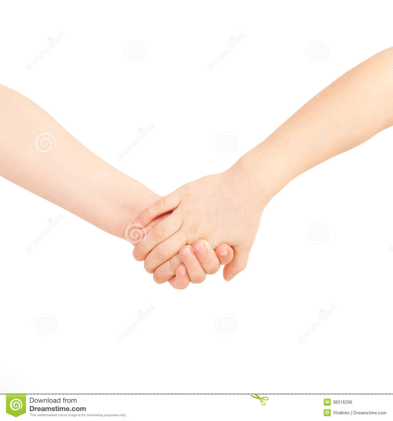 Little Boy And Girl Holding Hands Friendship And Royalty Free Stock