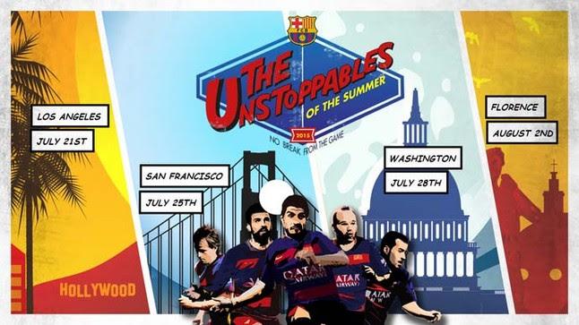 """Los """"imparables"""" del Barça, a la conquista de EE.UU"""