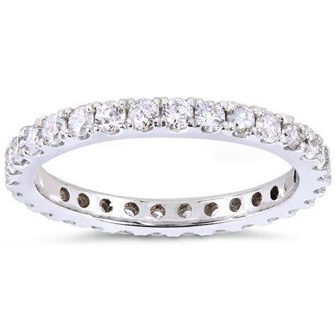 Kobelli 1 Carat (ct.tw) Prong set Diamond Eternity Wedding