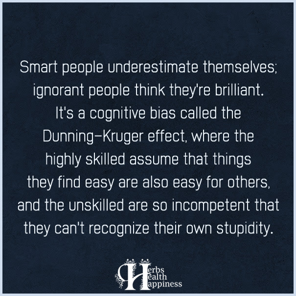 Smart People Underestimate Themselves ø Eminently Quotable