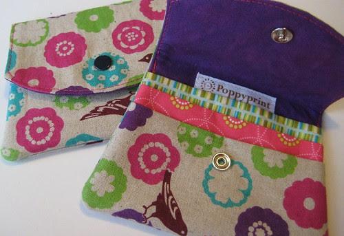 Echino wallets by Poppyprint