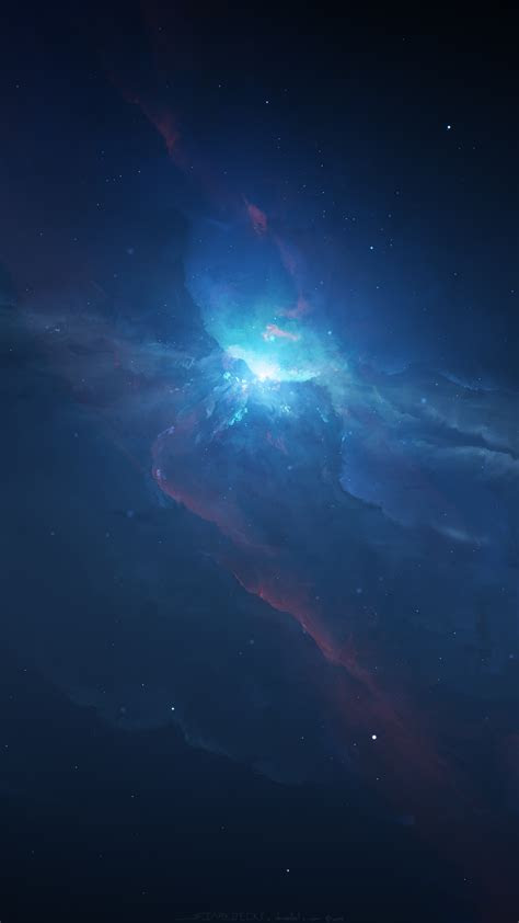 space nebula galaxy stars universe iphone wallpaper