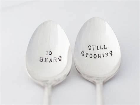 10 Year anniversary gift, Spoon Set, STILL SPOONING